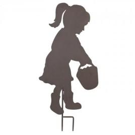Zahradní dekorace holčička s košíkem