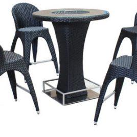 Dimenza Barový stůl TORNEO – černý